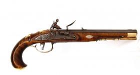 b- Marvin Kemper Kentucky Flintlock Pistol